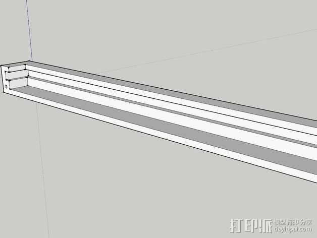 K8200打印机玻璃板支撑架 3D打印模型渲染图