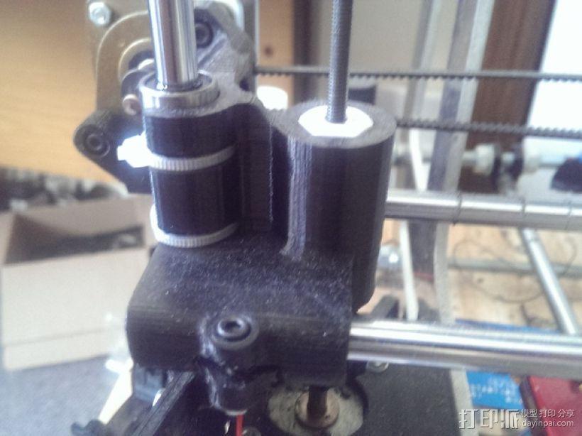 打印机X轴螺母支架 3D打印模型渲染图