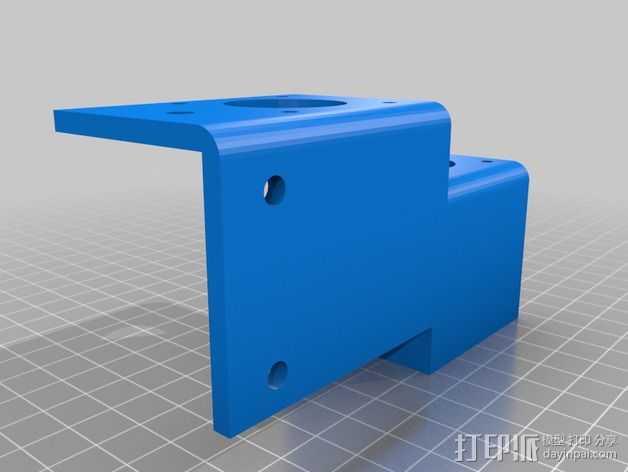 Ez3D Phoenix 3D打印机Z轴马达支架 3D打印模型渲染图