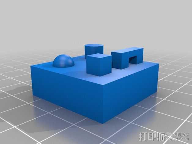 桥梁 半圆 圆柱  正方体 3D打印模型渲染图