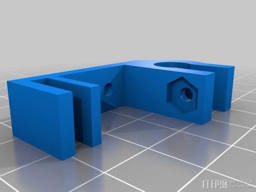 prusa i3打印机Z轴限位开关支架  3D打印模型渲染图