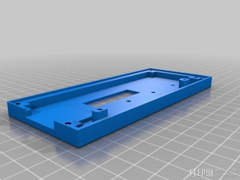 控制器液晶显示屏保护外盒 3D打印模型渲染图
