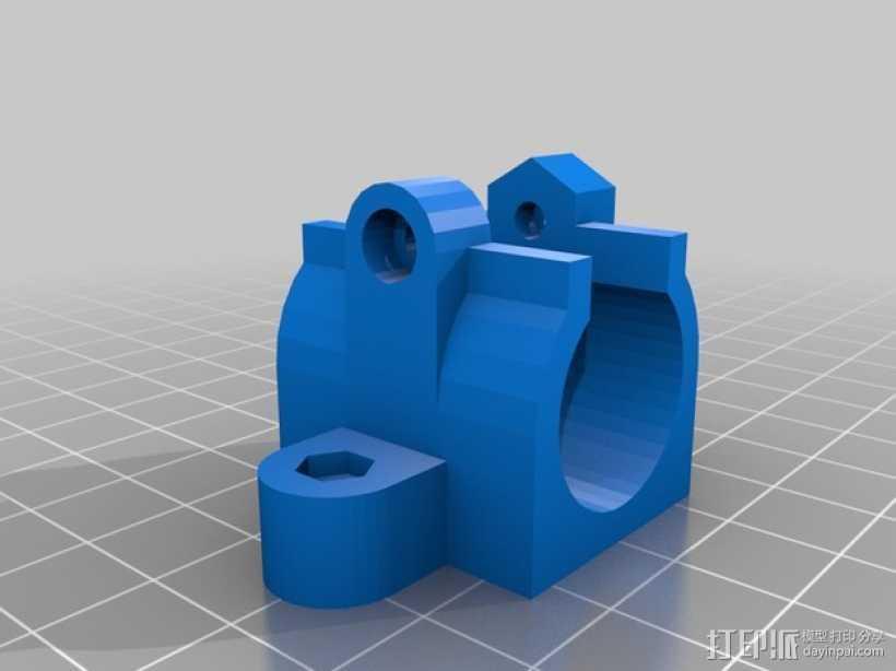 Lm10uu 轴承支架 3D打印模型渲染图