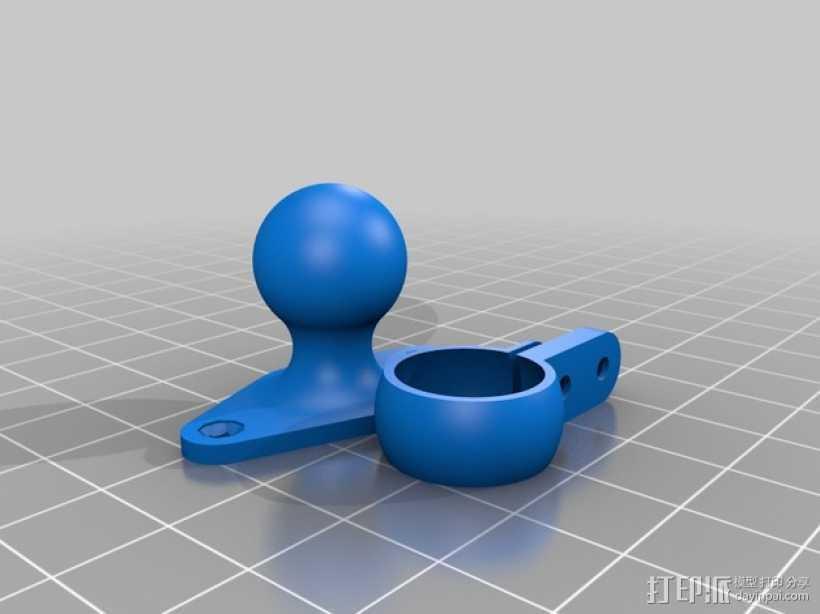 球形接头固定夹 3D打印模型渲染图