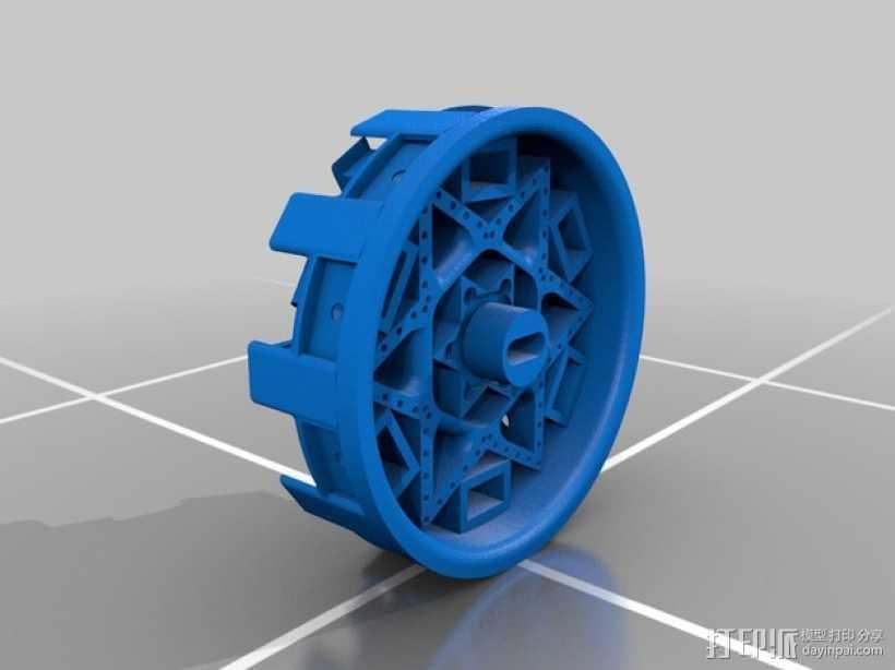 机器人 艺术轮 3D打印模型渲染图