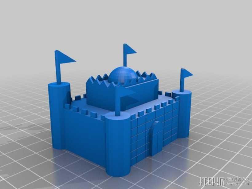 城堡 3D打印模型渲染图