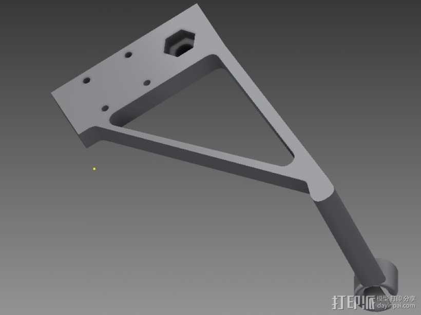 线支撑架 3D打印模型渲染图