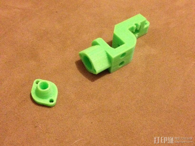 折叠式挤出机 3D打印模型渲染图