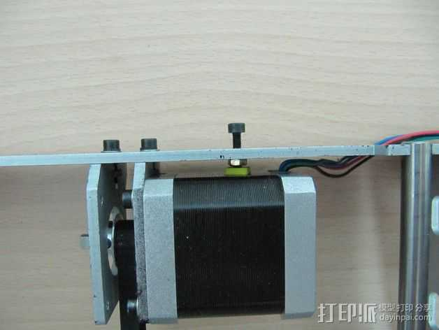P3打印机Y轴步进马达抗扭动器 3D打印模型渲染图