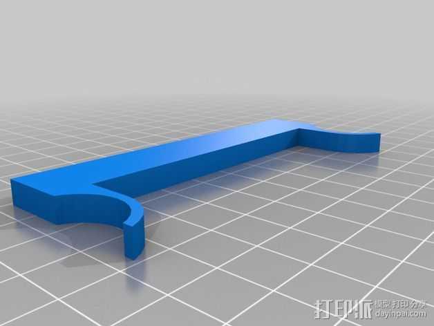 玻璃板固定夹 3D打印模型渲染图