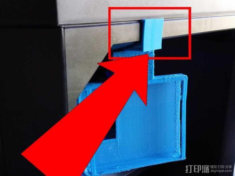 MakerBot 打印机电子控制主板固定器 3D打印模型渲染图