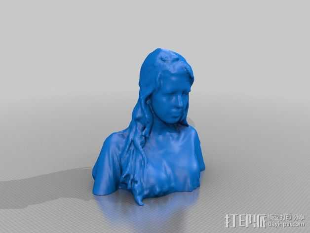 人物模型 半身塑像 3D打印模型渲染图