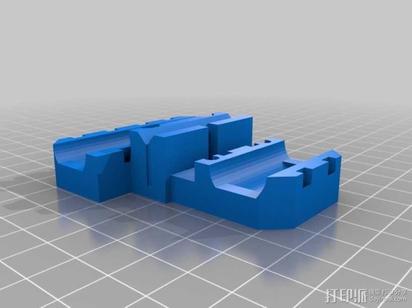 Prusa i3挤出机支架 3D打印模型渲染图