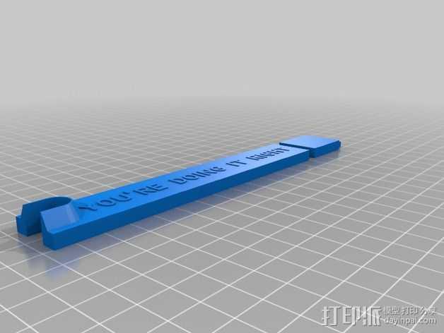 RoBo 3D打印机顶部线轴支架 3D打印模型渲染图
