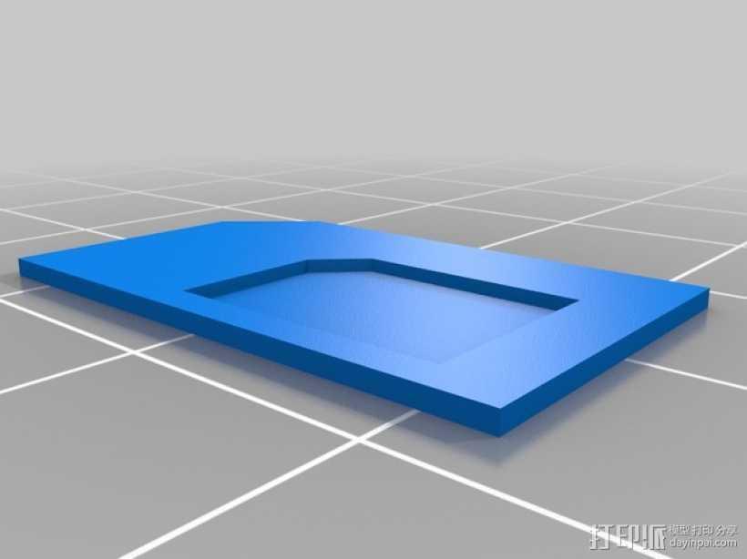 SIM卡卡套 适配器 3D打印模型渲染图