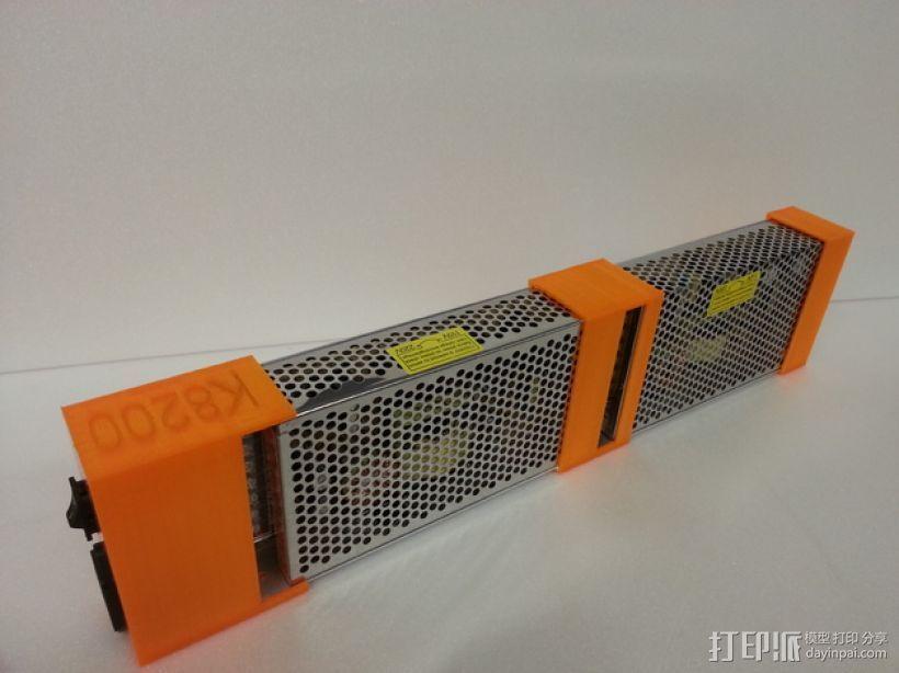 电源固定器  3D打印模型渲染图