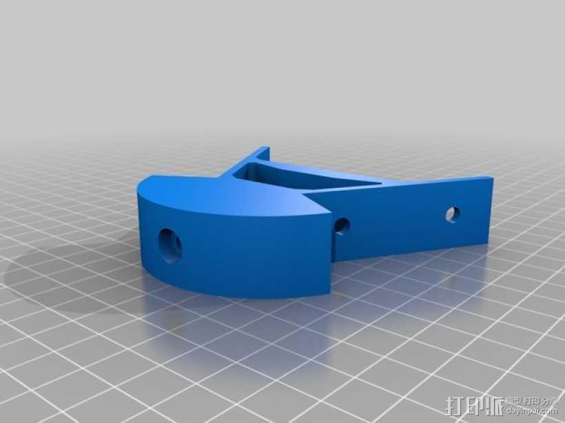 Kossel mini打印机顶部框架 3D打印模型渲染图