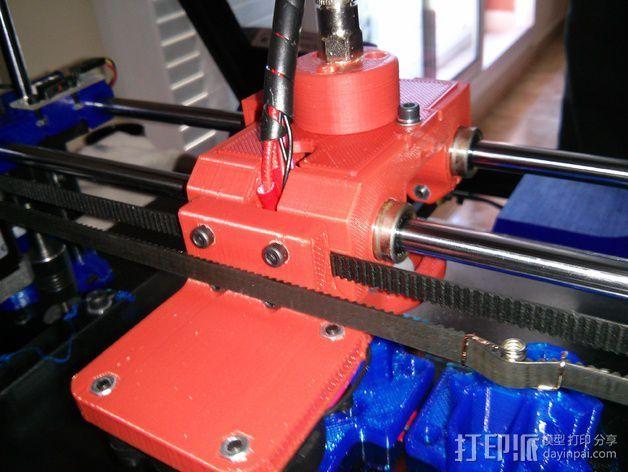 Bowden 鲍登挤出机 3D打印模型渲染图