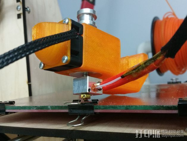 喷头风扇导管 3D打印模型渲染图