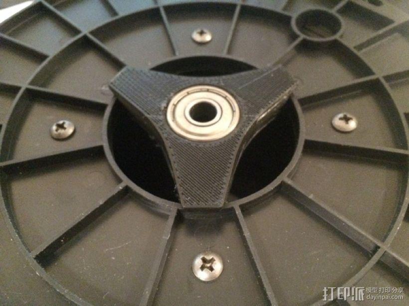滚珠轴承线轴支撑架 3D打印模型渲染图