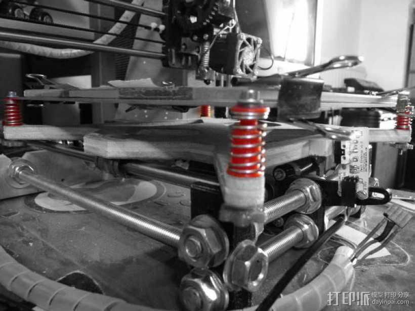 弹簧导杆 3D打印模型渲染图