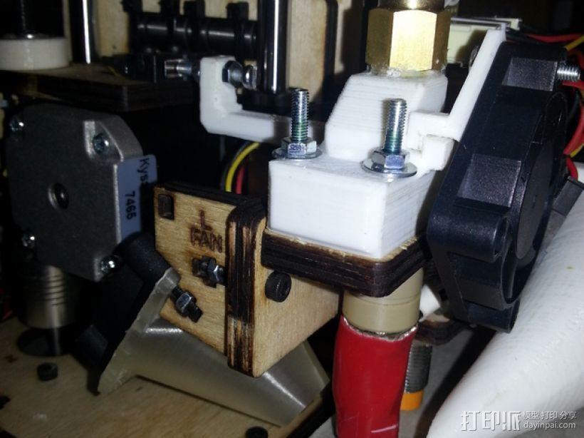 外部挤压机 3D打印模型渲染图
