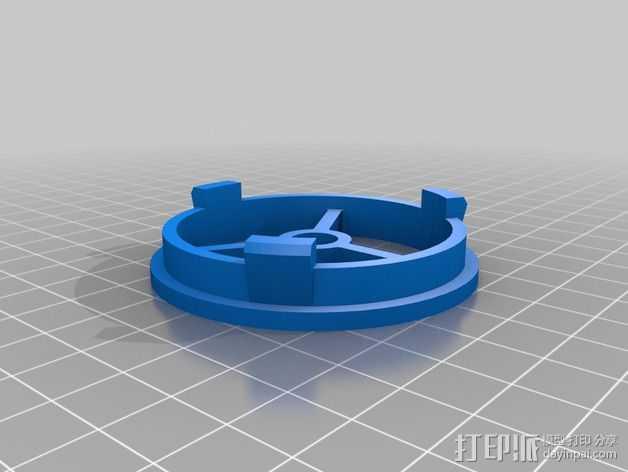 56毫米的线轴支架 3D打印模型渲染图