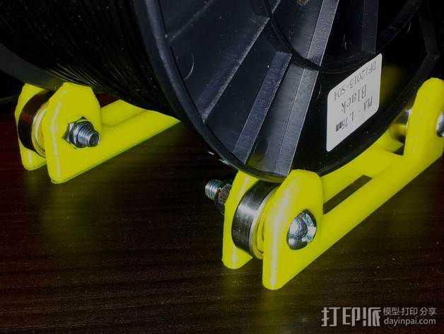 线轴滚架 3D打印模型渲染图