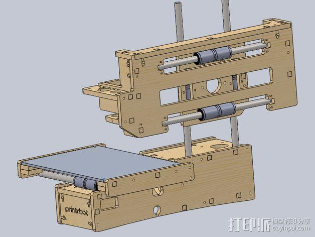 Printrbot 打印机部件 3D打印模型渲染图