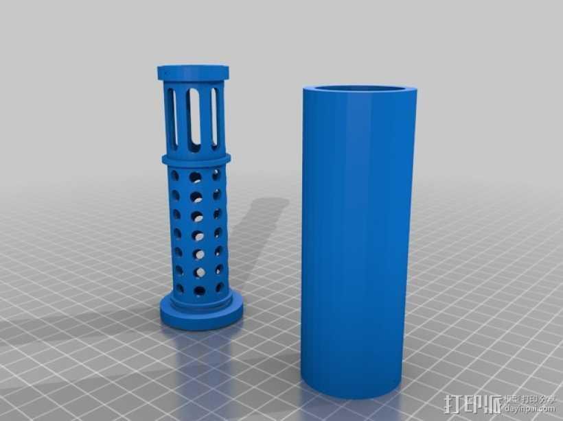 消音器 3D打印模型渲染图