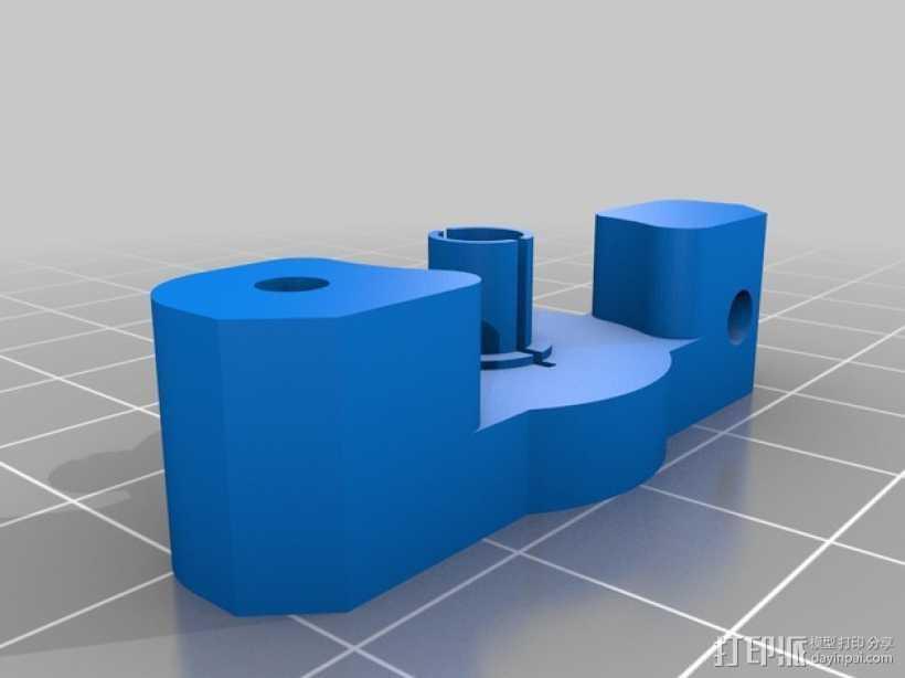 Bowden MK8 鲍登挤出机  3D打印模型渲染图