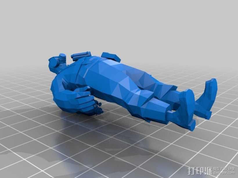 军团要塞2 Pyro人物模型 3D打印模型渲染图