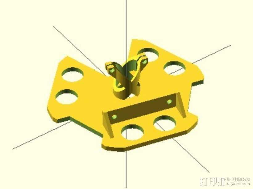 Kossel800打印机激光反应器 3D打印模型渲染图