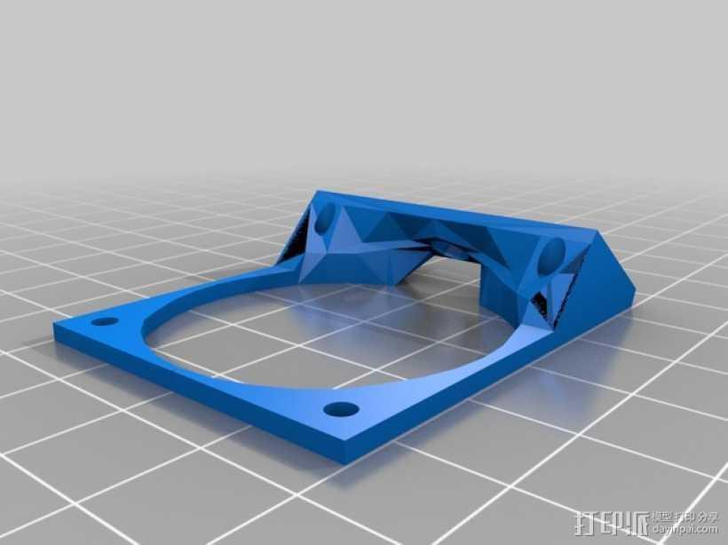 Robo3D打印机风扇支架 3D打印模型渲染图