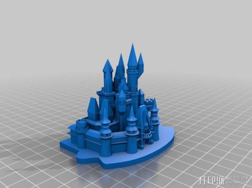 灰姑娘城堡 3D打印模型渲染图