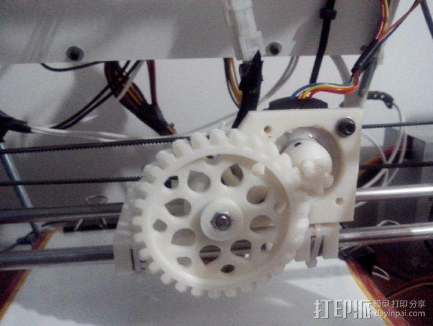 轻型挤出机 3D打印模型渲染图