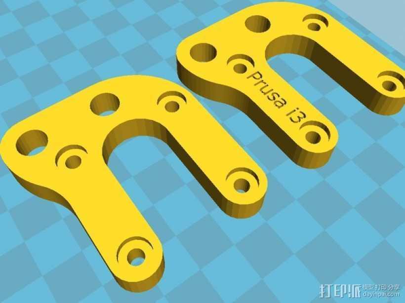 Prusa i3打印机Y轴马达支架 3D打印模型渲染图