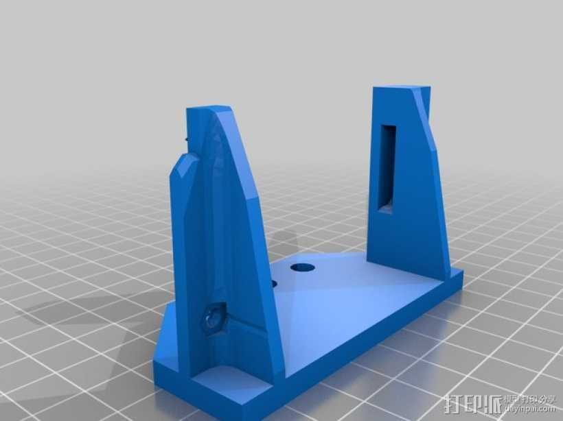 Prusa i3打印机连接器支架 3D打印模型渲染图