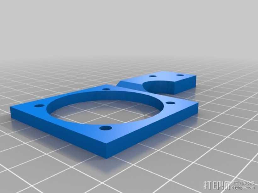 Printrbot打印机挤出机风扇支架框 3D打印模型渲染图