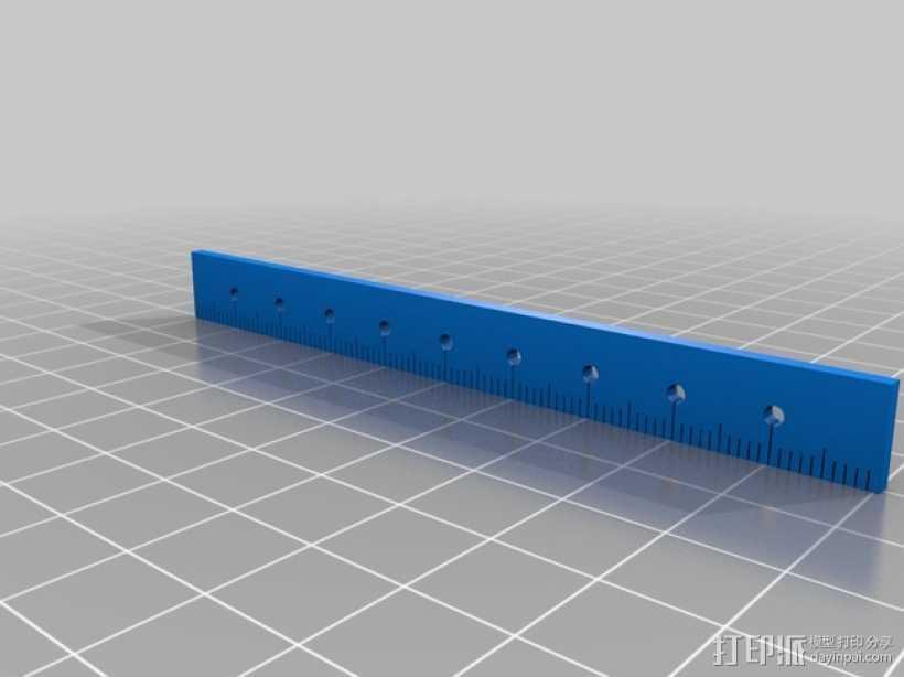 尺子 3D打印模型渲染图