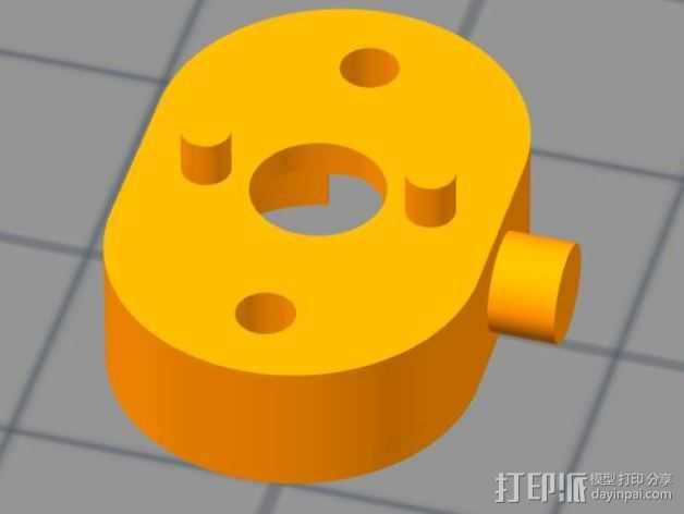 传动轴支架 3D打印模型渲染图