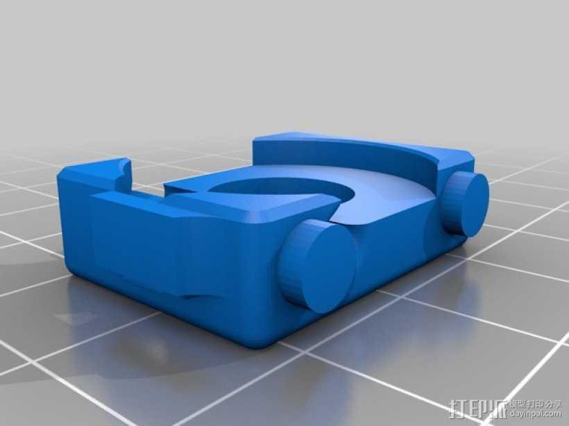 迷你型挤出机线材导线器 3D打印模型渲染图