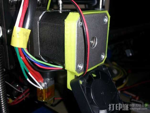 qu-bd oneup打印机风扇支架 3D打印模型渲染图