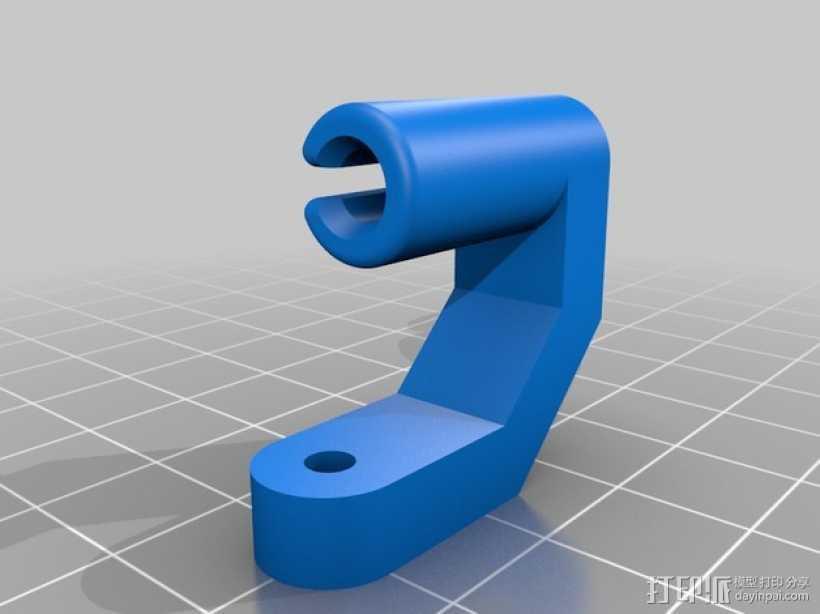 线材导线器 线材清洁器 3D打印模型渲染图