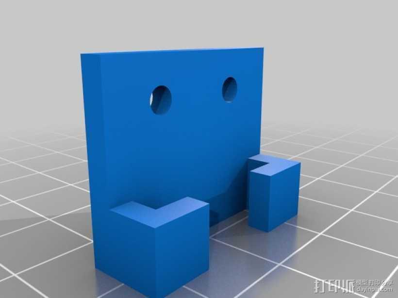 Prusa 打印机光杆固定器 3D打印模型渲染图