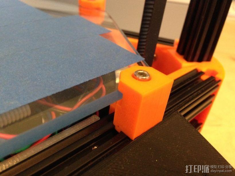 Kossel Mini 打印机玻璃板支撑架 3D打印模型渲染图