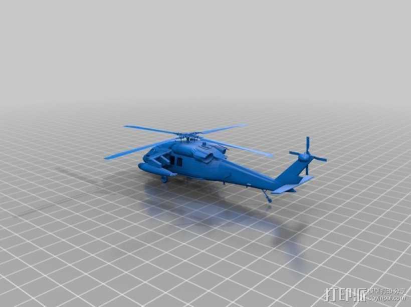 UH-60黑鹰直升机 3D打印模型渲染图