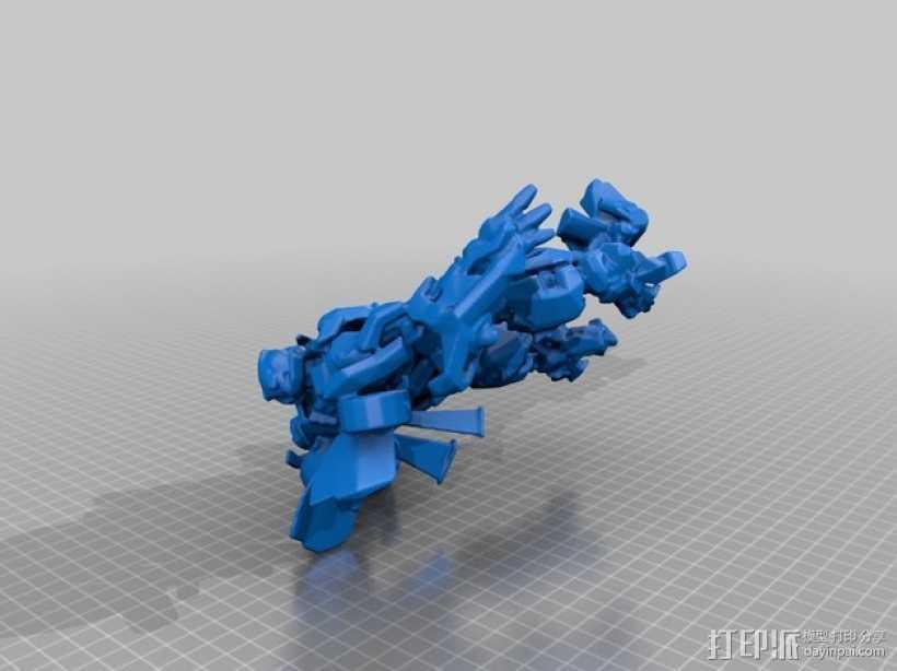 大黄蜂 3D打印模型渲染图