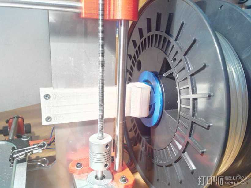 Prusa i3 打印机线轴架 3D打印模型渲染图