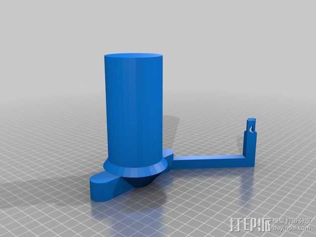 Smartrap 打印机的线轴支架 3D打印模型渲染图
